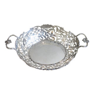 Kemp Brothers Reticulated Sterling Silver Bowl
