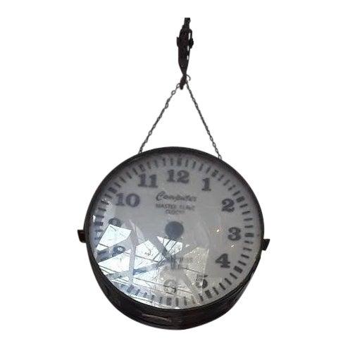 Vintage Industrial Factory Clock For Sale