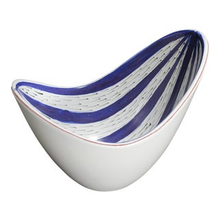 Mid-Century Swedish Faience Bowl by Stig Lindberg