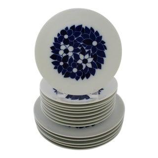 Bavarian Porcelain Plates - Set of 14 For Sale