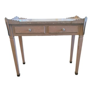 Vintage Shabby Chic Pink Writing Desk For Sale