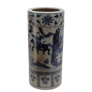 Sarreid Craver Ceramic Umbrella Stand For Sale
