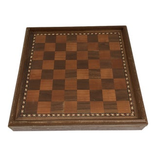 Vintage Chess Board Set For Sale