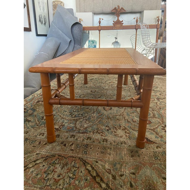 Beautiful solid oak coffee table,perfect in multiple environments,coastal,boho,organic. Estate sale find from the mid...