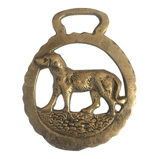 Vintage Brass Dog Harness Ornament