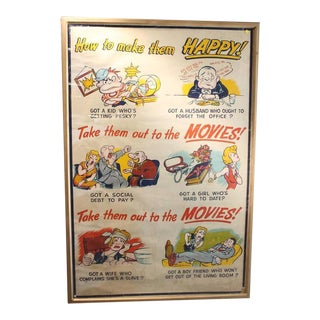"1930s ""Take Them Out to the Movies"" Original Poster"