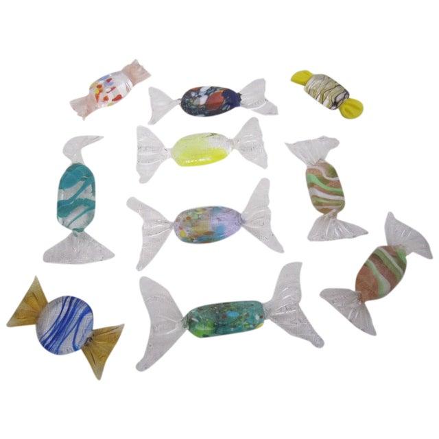 Oversized Murano Glass Candies - Set of 10 - Image 1 of 4