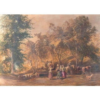 'Return From the Meadows' by John Faulkner, Royal Society of British Artists For Sale