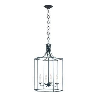 Alexa Hampton by Generation Lighting Bantry House Medium Lantern, Blue For Sale