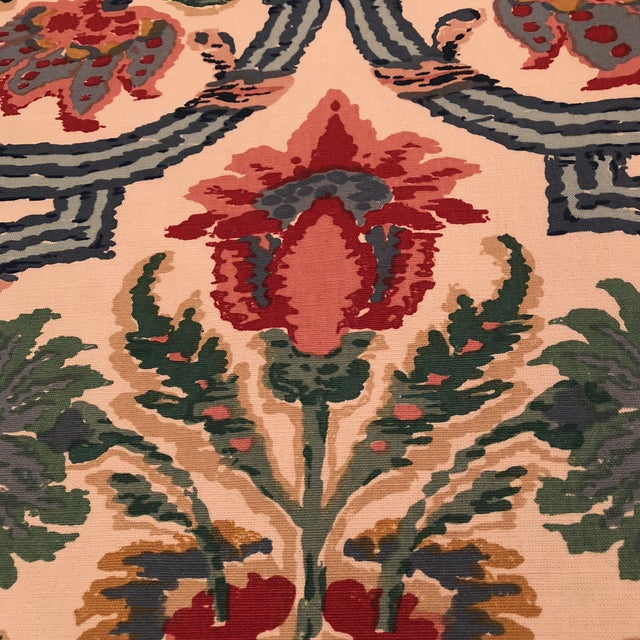 "Lee Jofa's ""New Sevilla"" in Multi Linen Fabric - Almost 3 Yds - Image 3 of 7"