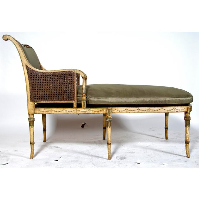English Traditional Early 19th Century Duchesse Brisée Painted Fainting Couch For Sale - Image 3 of 5
