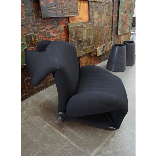 """Toshiyuki Kita Toshiyuki Kita """"Wink"""" Convertible Lounge Chair 1980's For Sale - Image 4 of 9"""