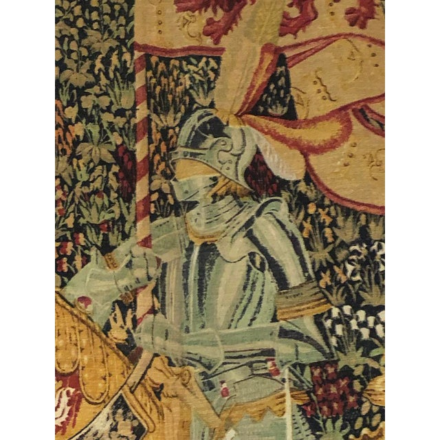 French Provincial 1960s French Style Tapestry For Sale - Image 3 of 8