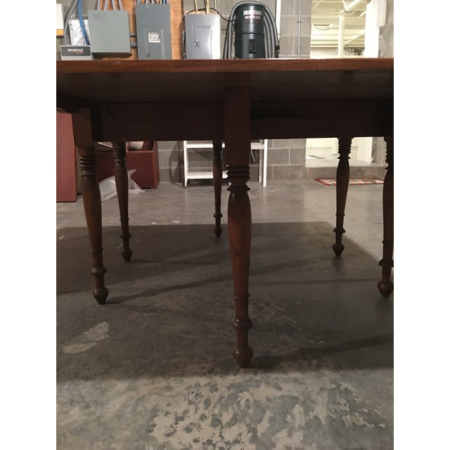 Brown Antique Sheraton Walnut Pembroke Table For Sale - Image 8 of 11