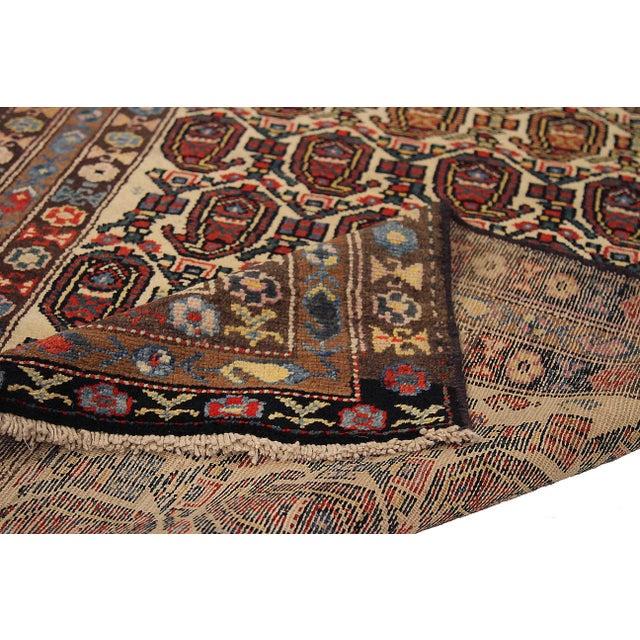Antique Persian Area Rug Bakhtiar Design For Sale - Image 4 of 5