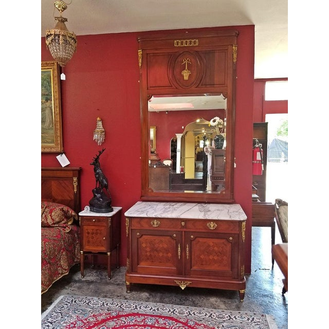 Gold 19c French Louis XVI Style Complete Bedroom Set For Sale - Image 8 of 12