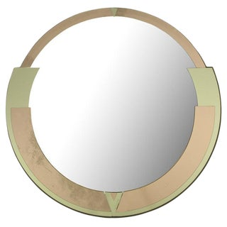 Signed David Marshall Round Deco Revival Mirror For Sale
