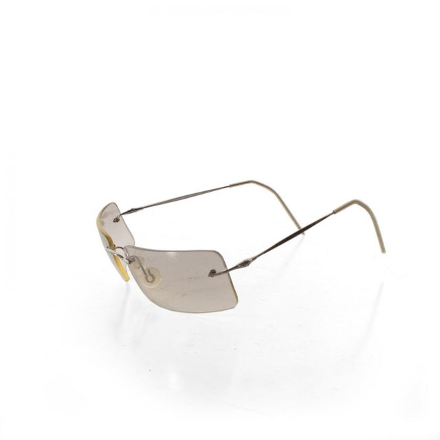 1990s Modernist Sunglasses by Armani, Chrome Shades For Sale - Image 5 of 5