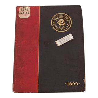 1890 Republican Club New York City Member Directory For Sale