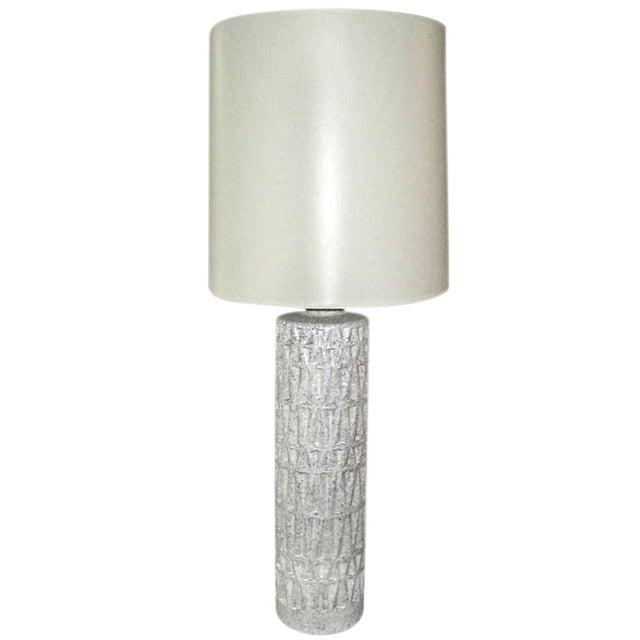 Mid Century Ceramic Textured Lamp - Image 1 of 3