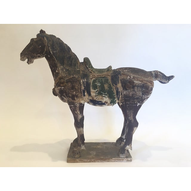 Hand Carved Painted Wooden Horse - Image 2 of 7
