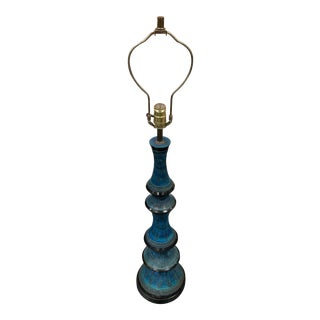 1960s Vintage FAIP Turquoise Lamp For Sale
