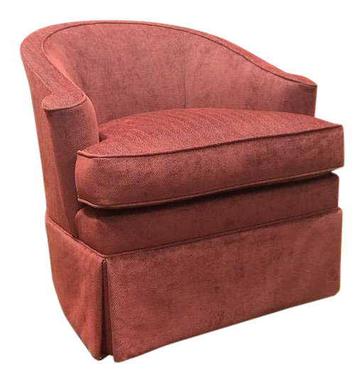 Pearson Ember Skirted Lounge Chair For Sale