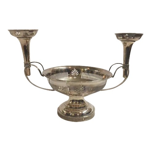 English Silverplated Epergne For Sale