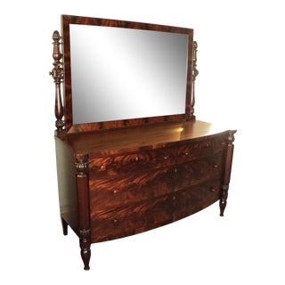 Antique Royal Furniture Mahogany Dresser with Mirror For Sale