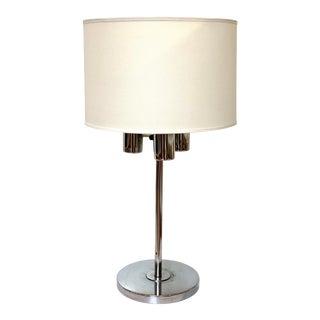 Mid-Century Robert Sonneman Three-Light Chrome Table Lamp For Sale