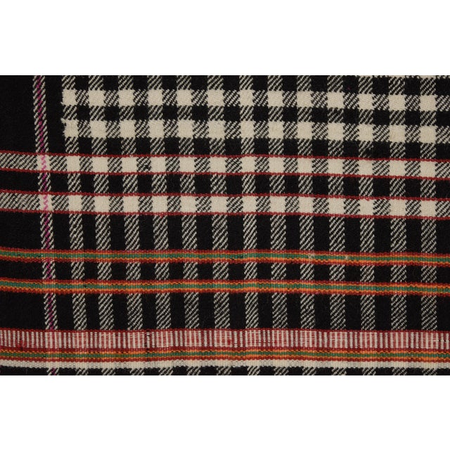 Contemporary Khadi Handwoven Wool Blanket For Sale - Image 3 of 5