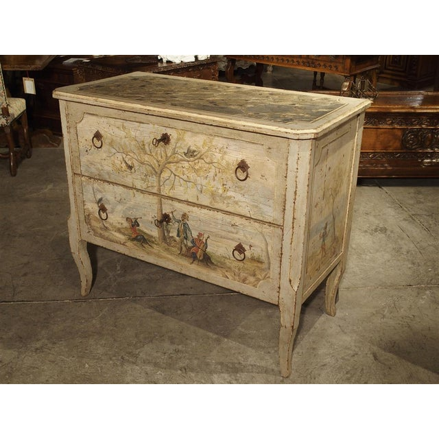 Antique Painted Commode From Italy, 19th Century For Sale - Image 13 of 13
