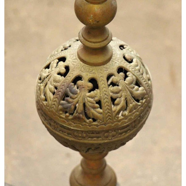 Cast Bronze Andirons - A Pair For Sale - Image 6 of 8