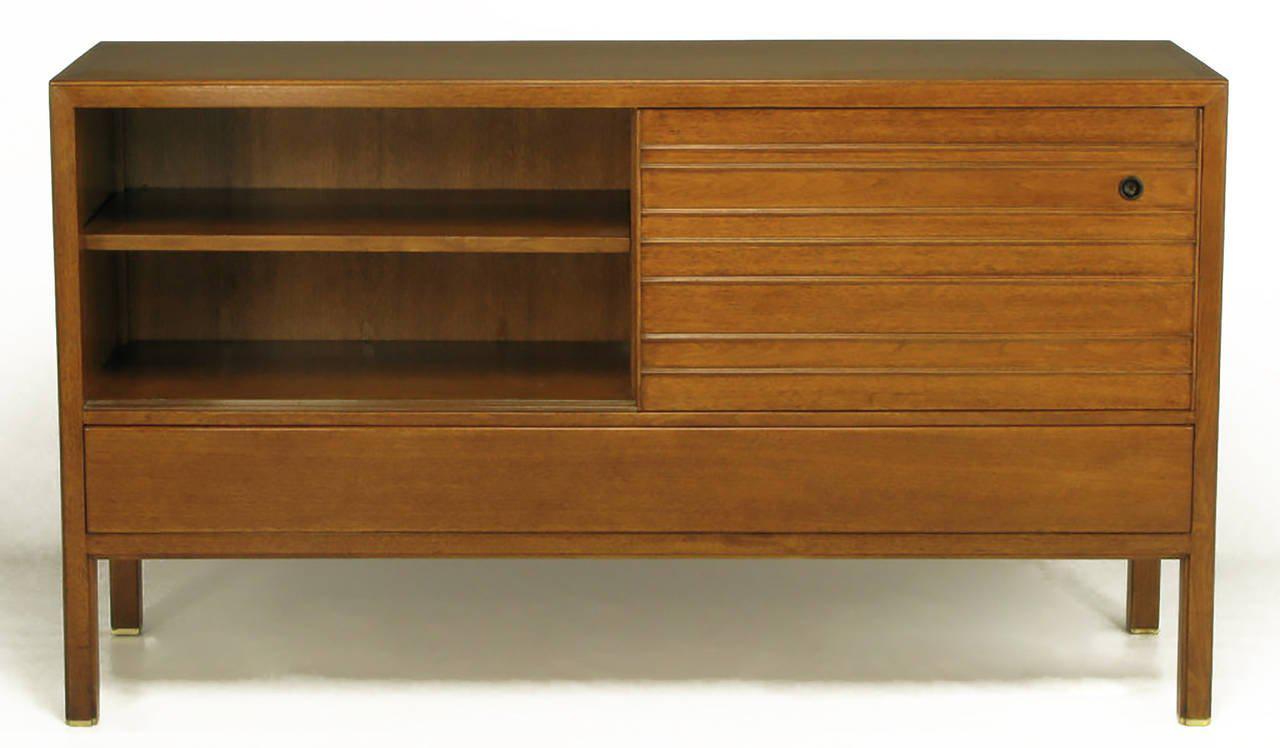Edward Wormley Mahogany Sideboard Cabinet with Sliding Battened Doors - Image 4 of 10  sc 1 st  Decaso & Luxury Edward Wormley Mahogany Sideboard Cabinet with Sliding ...