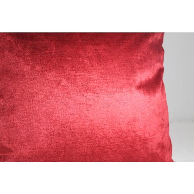Italian Silk Velvet Pillow Covers - a Pair - Image 3 of 4