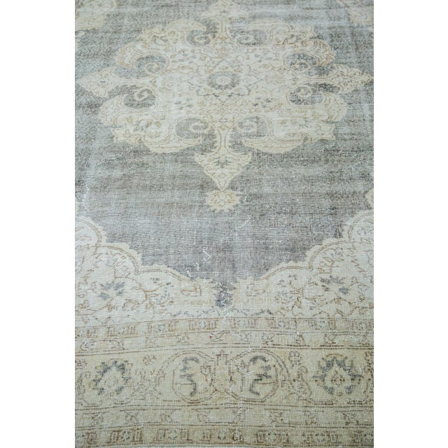 "Distressed Scalloped Oushak Carpet - 6'10"" x 10'3"" - Image 3 of 5"