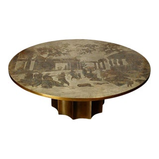 Large Rare Odyssey Cocktail Table by Philip and Kelvin Laverne, Circa 1960s For Sale