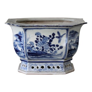 Chinese Blue and White Planter For Sale