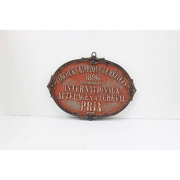 Country 1896 Béziers France Horse Show Award For Sale - Image 3 of 3