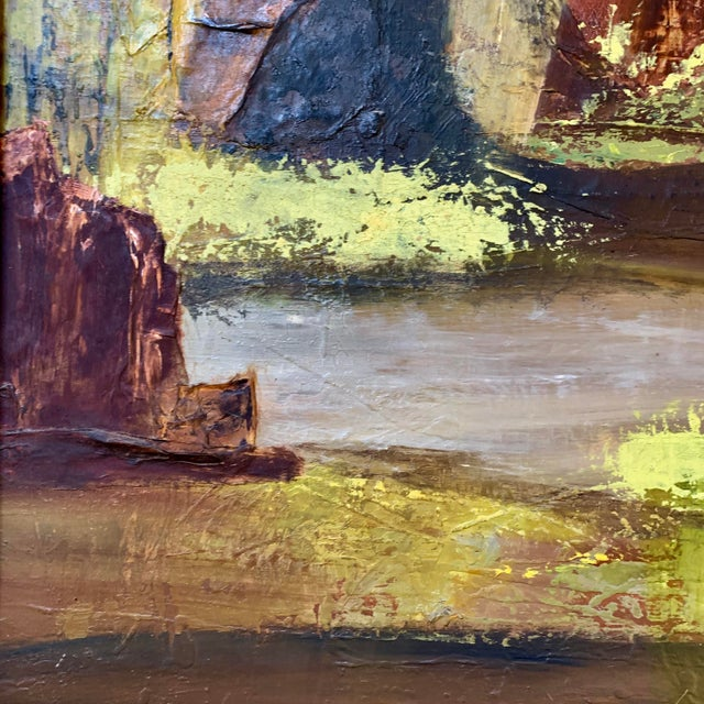 Mid 20th Century Vintage Mid-Century Nell Hirschkind Landscape Painting For Sale - Image 5 of 12
