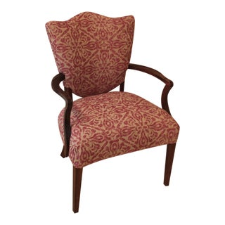 Vintage Mid-Century Fortuny Inspired Linen Chair