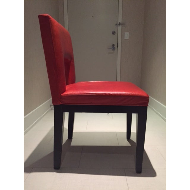 Red Custom Made Dining Chairs - Set of 6 - Image 7 of 8