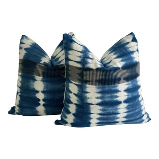 Mali Mud Cloth Tie-Dye Pillows - A Pair
