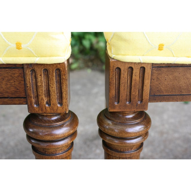 Hickory Directoire Style Dining Chairs - Set of 4 - Image 5 of 10