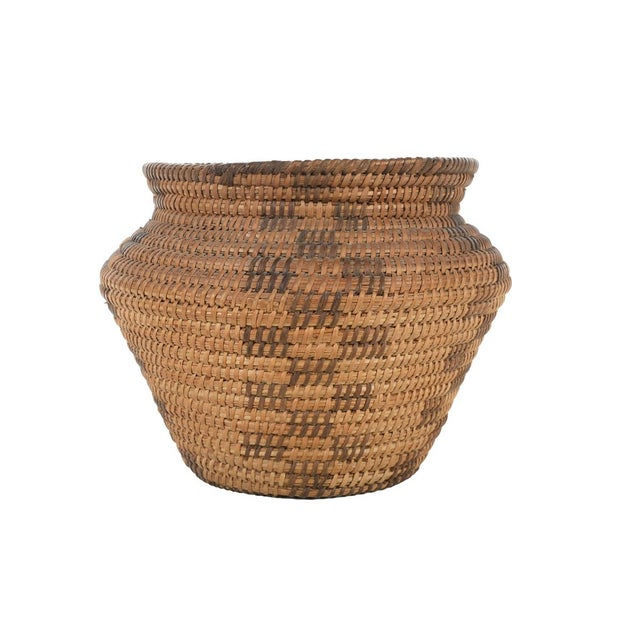 Mission Antique Mission Indian Basket Circa 1900 For Sale - Image 3 of 9