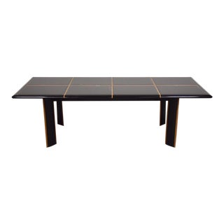 Pierre Cardin Roche Bobois Black Lacquer Dining Table For Sale