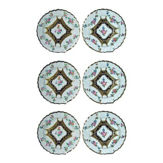 Chelsea Porcelain Botanical Dessert Plates - Set of Six For Sale