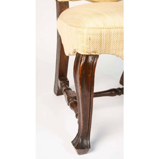 Mid 19th Century 19th Century Vintage Walnut Italian Side Chairs- A Pair For Sale - Image 5 of 9