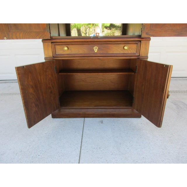 Drexel Lighted Bar Cabinet With Wine Rack - Image 9 of 12