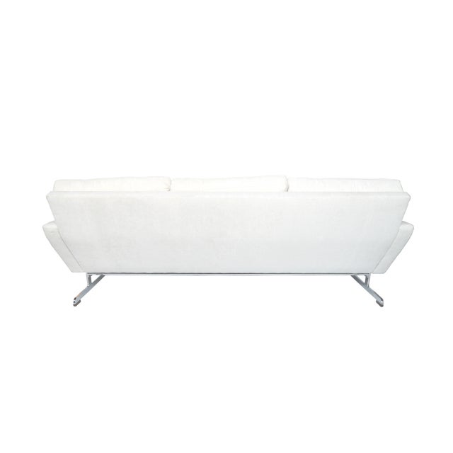 White Danish Modern Sofa by Johannes Andersen - Image 5 of 10